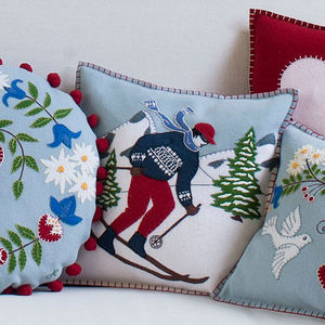 Alpine Skiing Man Cushion