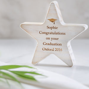 Personalised Graduation Wooden Star Keepsake - decorative accessories