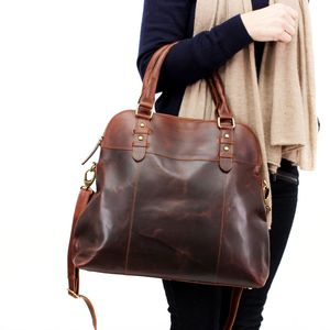 Ashbury Leather Shopper Tote