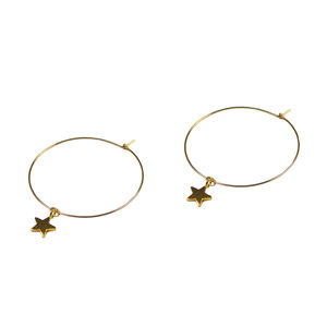Tiny Star Hoop Earrings - flower girl jewellery