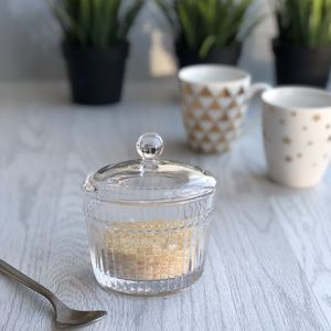 Retro Style Glass Sugar Bowl - sugar bowls & cream jugs