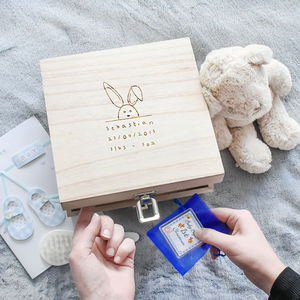 New Baby Name, Date And Weight Memory Box - new baby gifts