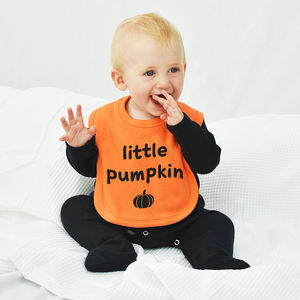 'Little Pumpkin' Halloween Baby Bib - baby & child sale