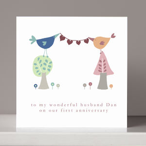 Personalised Anniversary Or Engagement Card