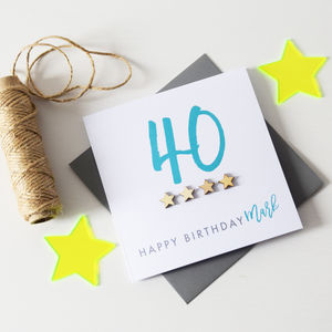 Personalised Milestone Age Birthday Card - birthday cards