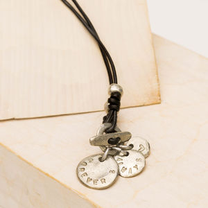 Personalised Multi Disc Necklace - jewellery sale
