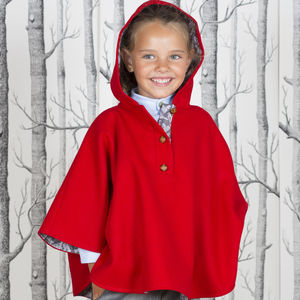 Bright Red Heritage Cape - clothing