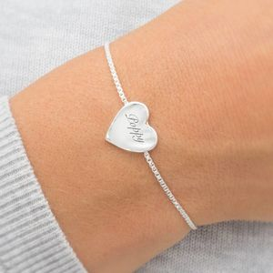 Harper Personalised Heart Bracelet - gifts for grandparents