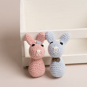 Hand Crochet Bunny Rattle - baby care