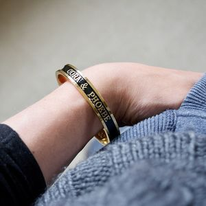 Baby Name Bangle For Mothers 18ct Gold - gifts for mothers