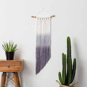 Ombre Dip Dye Macrame Wall Hanging - home accessories