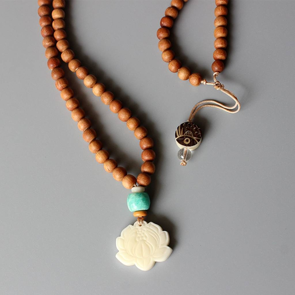 Meditation Necklace With Lotus Flower