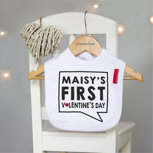 Personalised My First Valentine's Day Bib