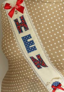 Hen Party Fabric Sash Red
