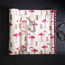 Flamingo And Pineapple Jewellery Roll