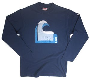 Men's Navy Wave Long Sleeve Top