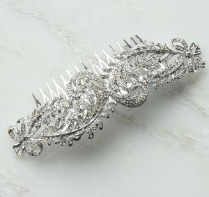 Edwina Oversized Bridal Silver Hair Comb - combs & hair pins