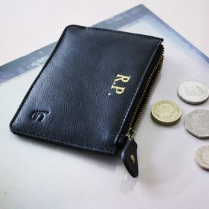 Personalised Luxury Coin, Card And Cash Purse