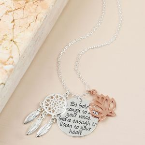 'Be Bold, Be Brave' Meaningful Words Necklace