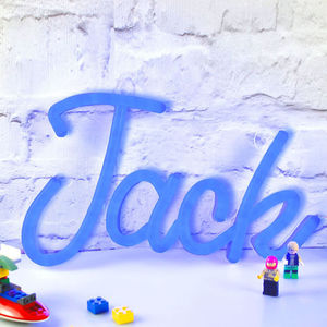 Personalised LED Neon Light Up Name - brand new partners