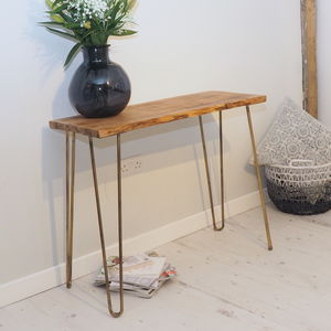 Accent Wooden Console Table With Hairpin Legs