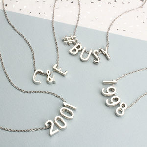 Customised Silver Necklace - necklaces & pendants