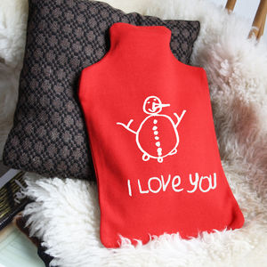 Hot Water Bottle With Your Child's Drawing - bedroom