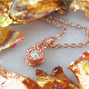 Rose Gold Anniversary Gift Necklace