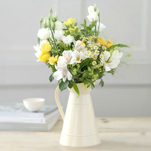 Oops A Daisy Fresh Flower Bouquet With Farmhouse Jug - fresh flowers