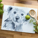 Inky Polar Bear Glass Worktop Saver