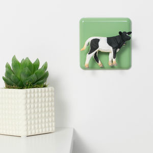 Pastel Green Decorative Light Switch With Cow - light switches