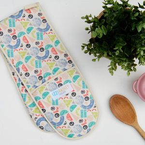 Farm Geometric Oven Gloves - kitchen accessories