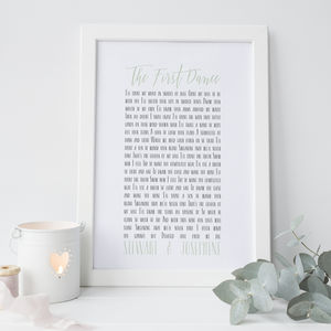 'The First Dance' Personalised Print - posters & prints