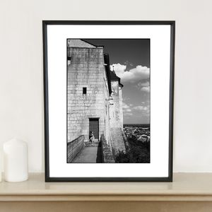 Girl Exiting Royal Fortress Photographic Art Print