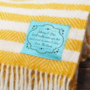 Summer Stripes Personalised Wool Throw