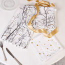 Cotton Starlit Forest Table Linen