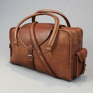 Vintage Style Leather Cabin Bag Medium - holdalls & weekend bags