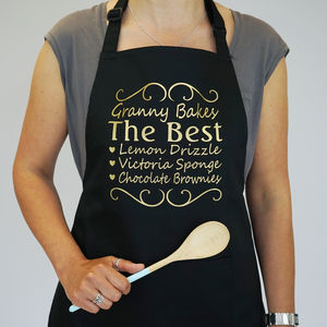 Personalised Gold Limited Edition You're The Best Apron - aprons