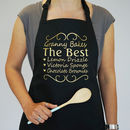 Personalised Gold Limited Edition You're The Best Apron
