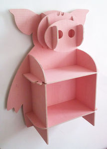 Poppy The Pig Wall Shelves