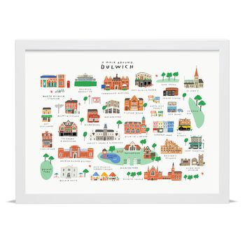 'A Walk Around Dulwich' Map Print