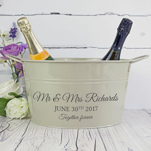 Personalised Wedding Wine Cooler - 10th anniversary: tin