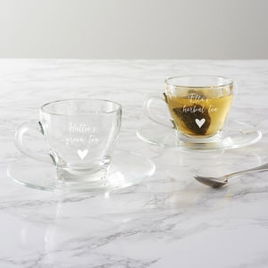 Personalised Teacup And Saucer For Her - cups & saucers