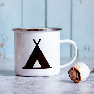 Personalised Enamel Mug For Camping Lover - camping