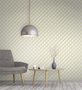 Diamonds Geometric Wallpaper - bedroom