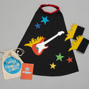 Guitar Hero Superhero Costume Gift Set
