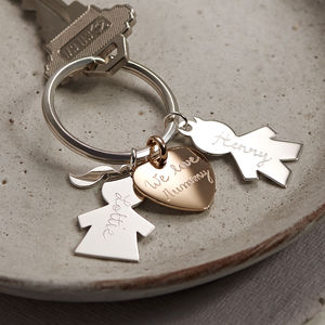 Personalised Person Keyring - mum loves style