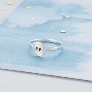 Personalised Disc Eclipse Ring - rings