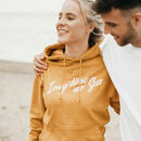 Womens 'Long Time No Sea' Slogan Mustard Hoody
