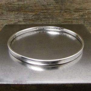 Personalised Silver Bangle - personalised